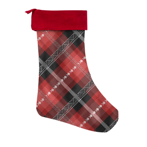 Guam Saipan CNMI Chamorro Plaid Christmas Stocking