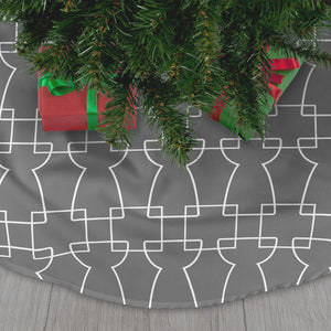 Geometric Latte Stone Guam CNMI Gray Christmas Tree Skirt