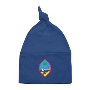 Guam Flag Knotted Baby Beanie