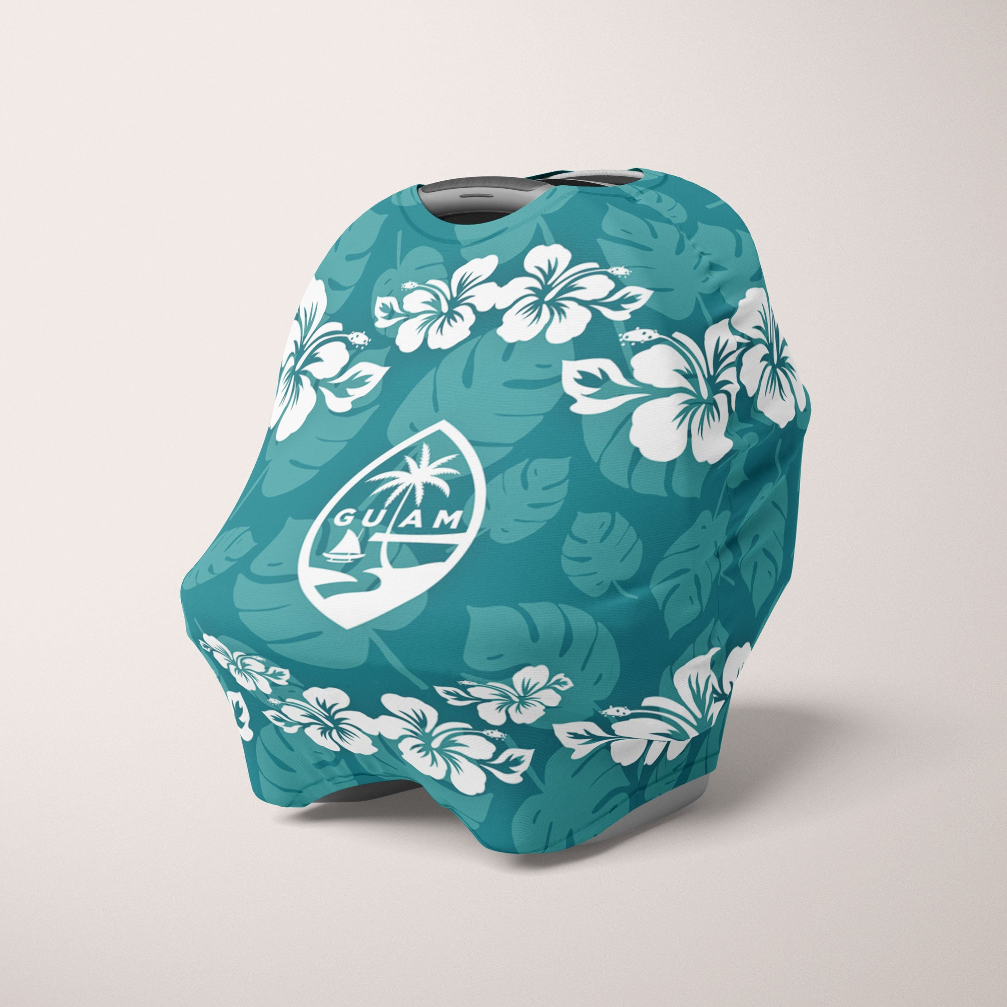 Guam Seal Hibiscus Pattern Baby Nursing Cover Car Seat Cover