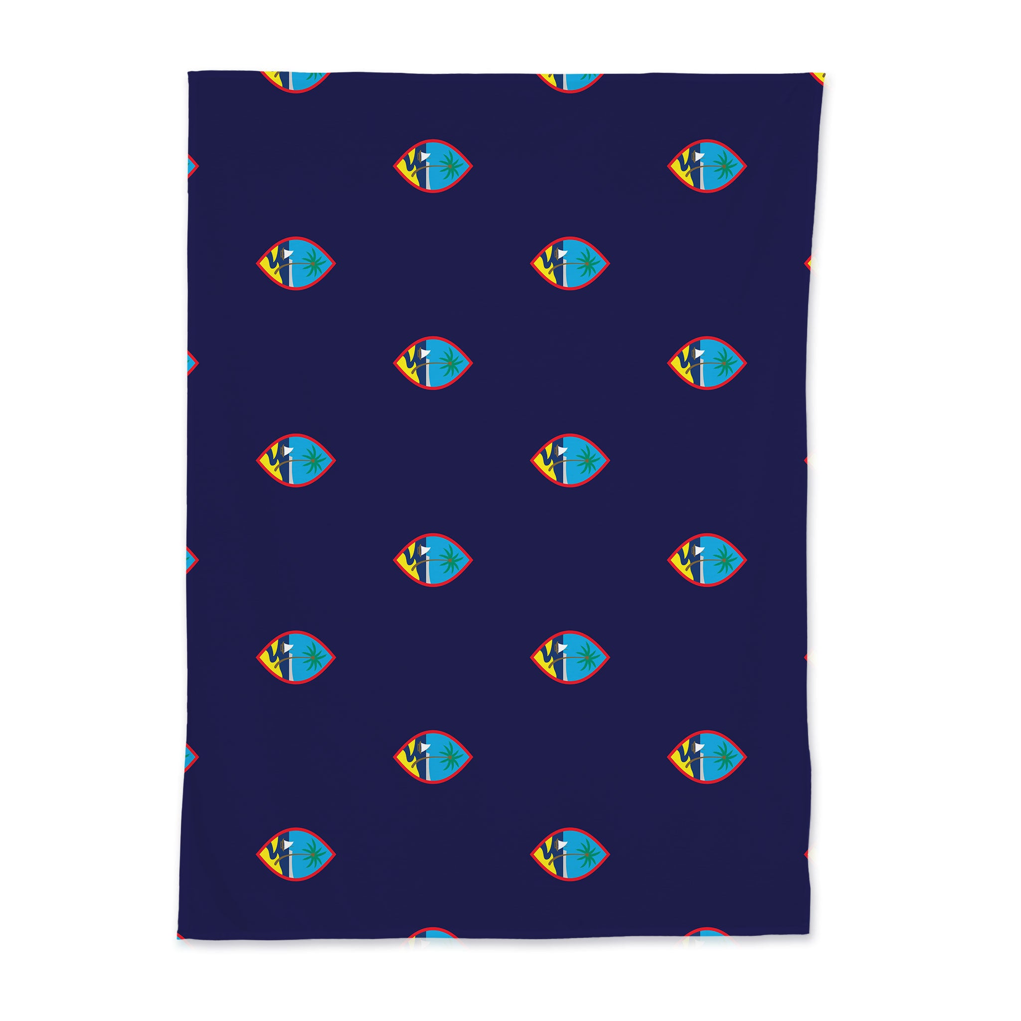 Guam Flag Baby Swaddle Blanket