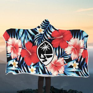 Guam Tropical Floral Hooded Blanket