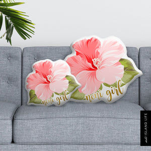 Neni Girl Hibiscus Guam CNMI Pillow Custom Shape Cushion