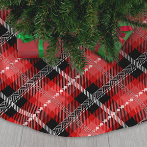 Guam Saipan CNMI Chamorro Plaid Christmas Tree Skirt