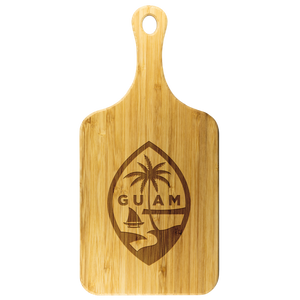 Guam Seal Bamboo Cutting Board with Handle