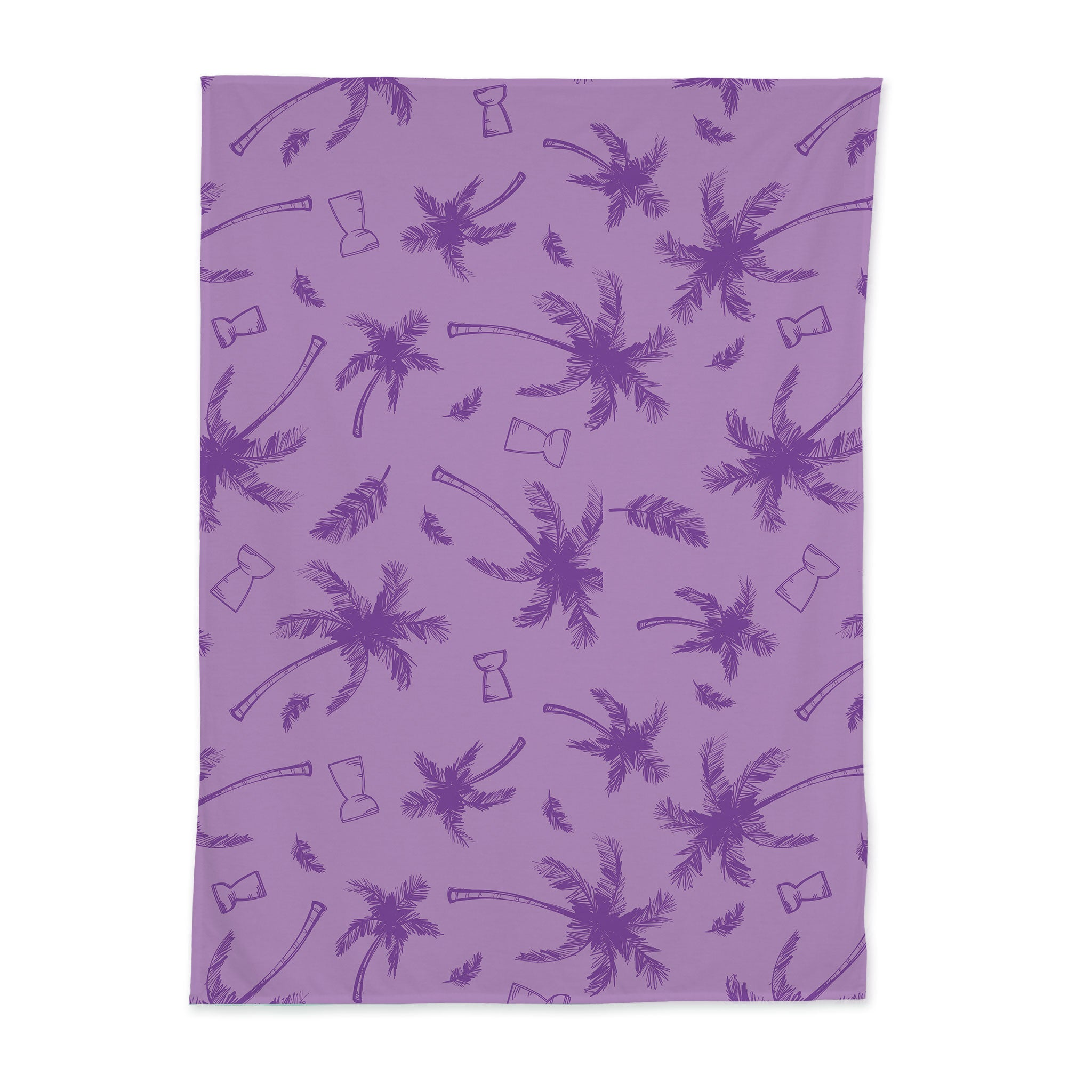 Latte Stone Coconut Trees Purple Baby Swaddle Blanket