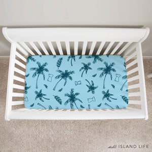 Latte Stone Coconut Trees Guam Saipan Chamorro Baby Crib Sheet