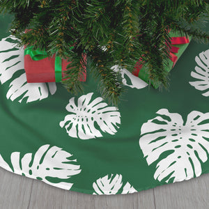 Green Lemai Leaves Guam CNMI Christmas Tree Skirt