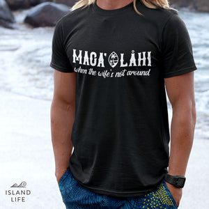 Maga' Lahi and Wife Guam Seal Men's Premium T-Shirt
