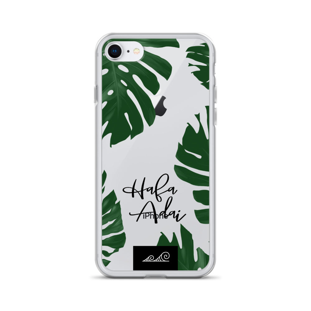 Hafa Adai Lemai Leaves Premium Glossy Clear iPhone Phone Case