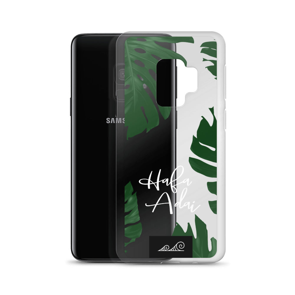 Hafa Adai Lemai Leaves Premium Glossy Clear Samsung Phone Case