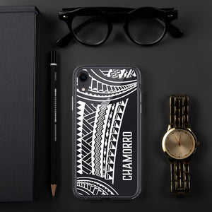 Chamorro Tribal Premium Glossy Clear iPhone Phone Case