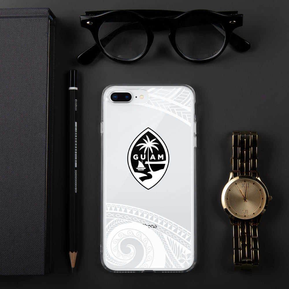Guam Seal Tribal Premium Glossy Clear iPhone Phone Case