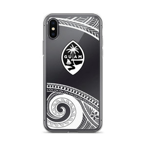 Guam Seal Island Tribal Tattoo Transparent iPhone Case