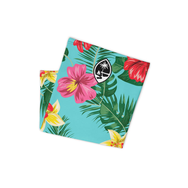 Guam Seal Neon Tropical Neck Gaiter