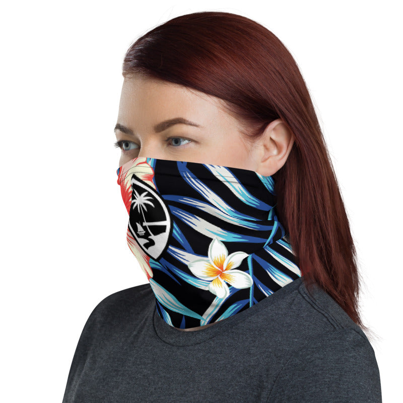 Guam Tropical Floral Neck Gaiter