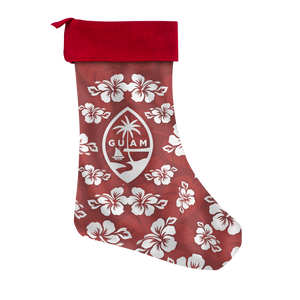 Guam Seal Hibiscus Christmas Stocking