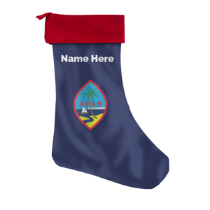 Guam Flag Christmas Stocking with Personalization