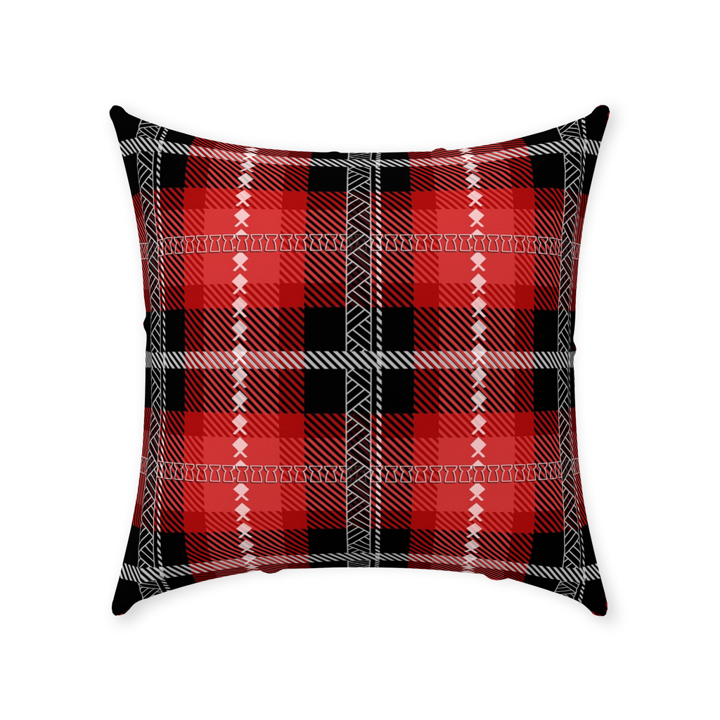 Guam Saipan CNMI Christmas Plaid Throw Pillow