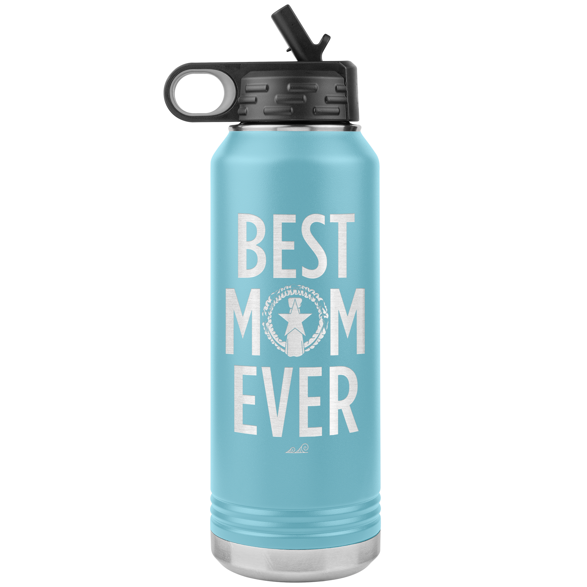 Best Mom Ever CNMI Seal 32oz Water Bottle Tumbler