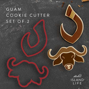 Guam Carabao Fishing Hook Set of 2 Cookie Cutters - Ready to Ship