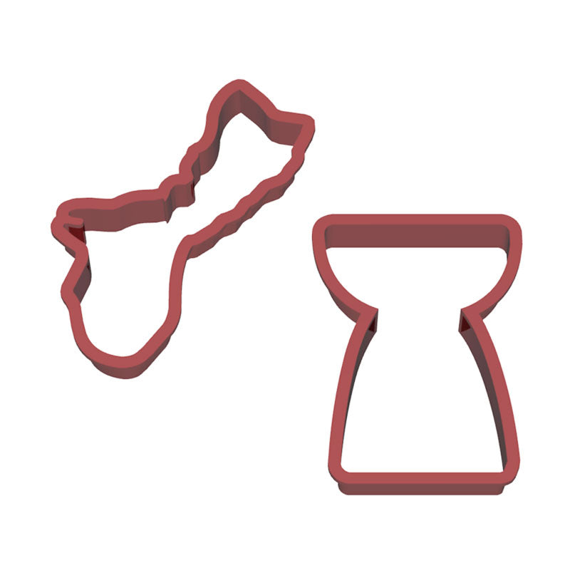 Guam Latte Stone Set of 2 Cookie Cutters