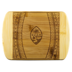 Guam Seal Tribal Bamboo Cutting Board