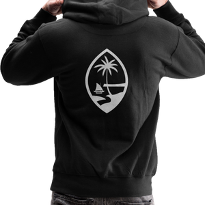 Guam Seal Unisex Heavyweight Premium Hoodie - black