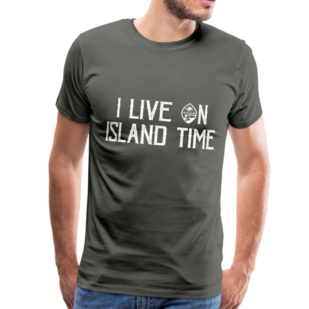 I Live on Island Time Guam T-Shirt Premium T-Shirt - asphalt gray
