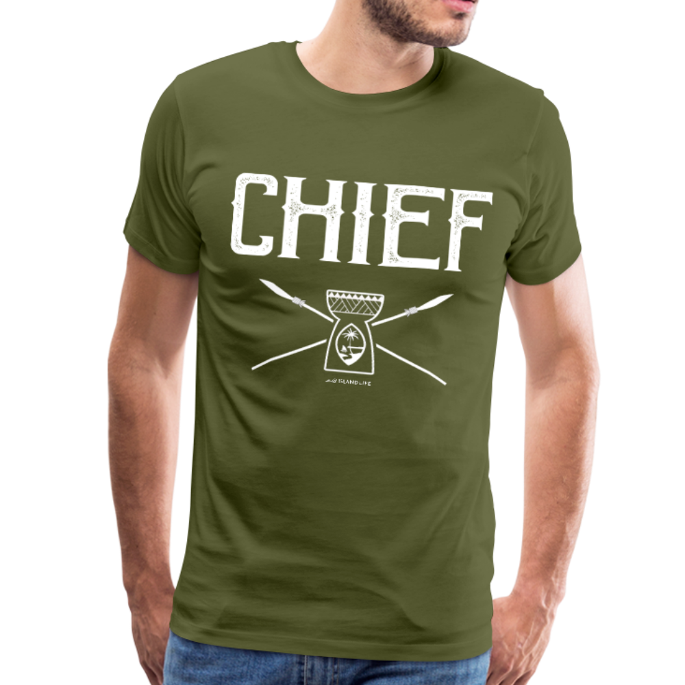 Chief Chamorro Guam Men's Premium T-Shirt - olive green