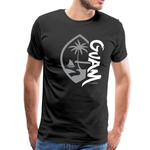Guam Seal Tagged Gray Men's Premium T-Shirt - black