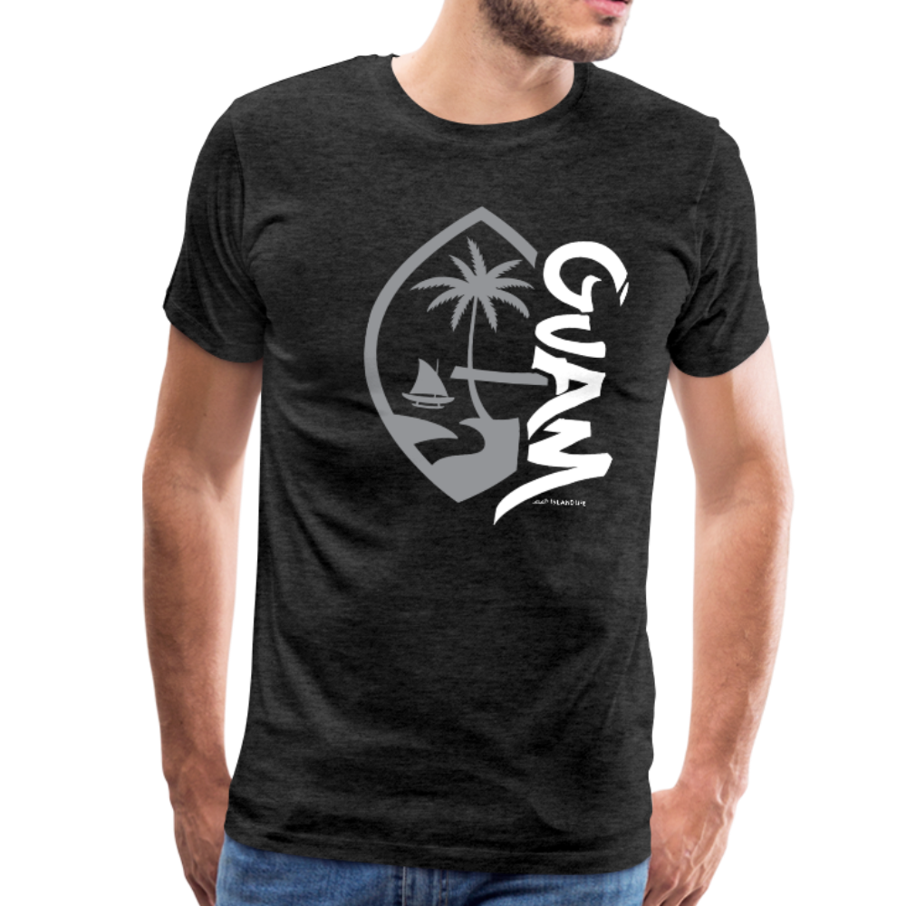 Guam Seal Tagged Gray Men's Premium T-Shirt - charcoal gray