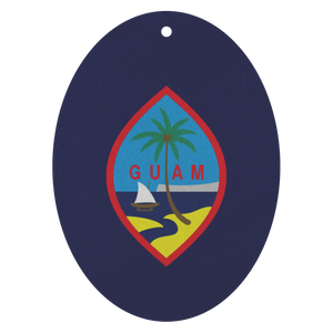 Guam Flag Custom Air Freshener 3pk