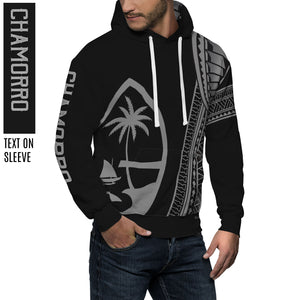 New Guam Seal Chamorro Tribal Black Pullover Hoodie