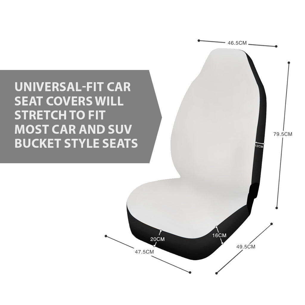 CNMI Saipan Tinian Rota White Tribal Car Seat Covers (Set of 2)