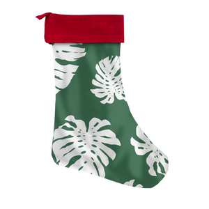 Green Lemai Leaves Guam CNMI Christmas Stocking