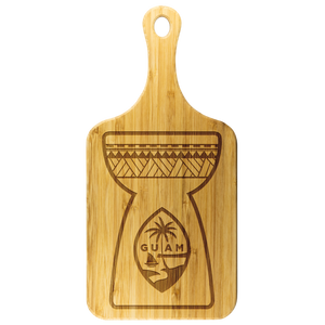 Latte Stone Guam Seal Cutting Board with Handle