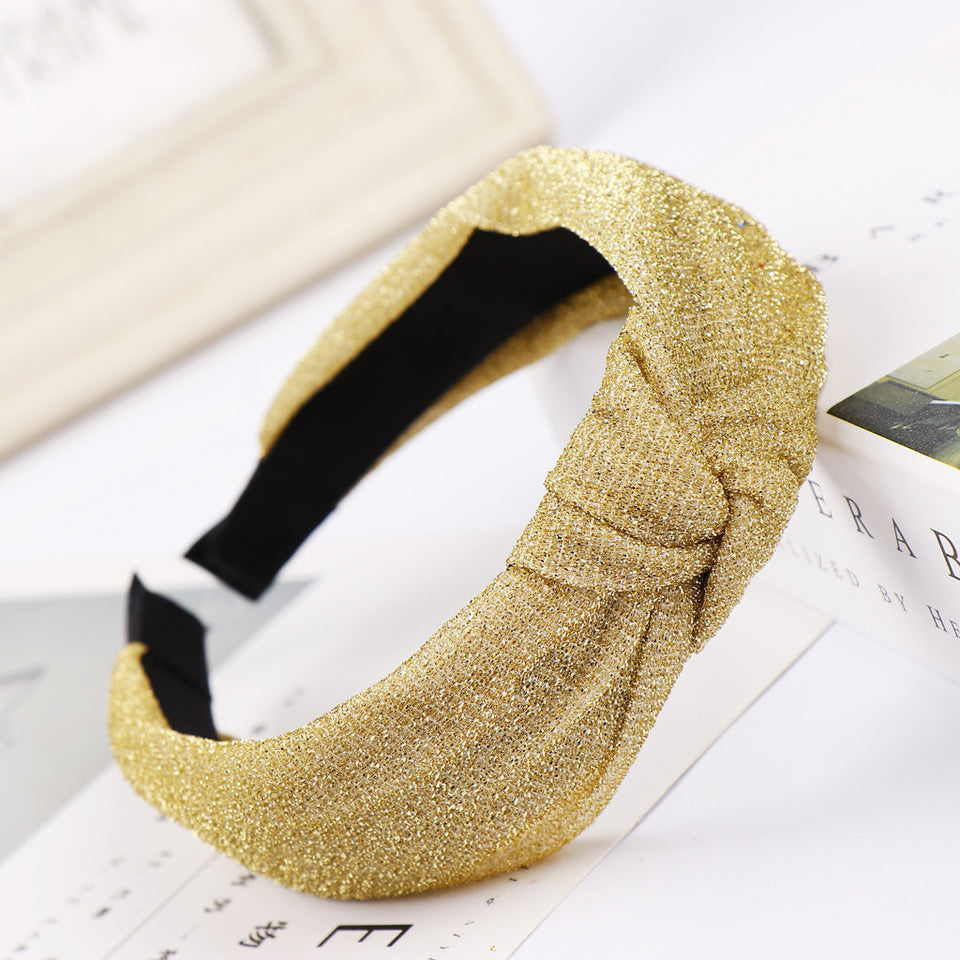 Trendy Single Color Knot Hairband