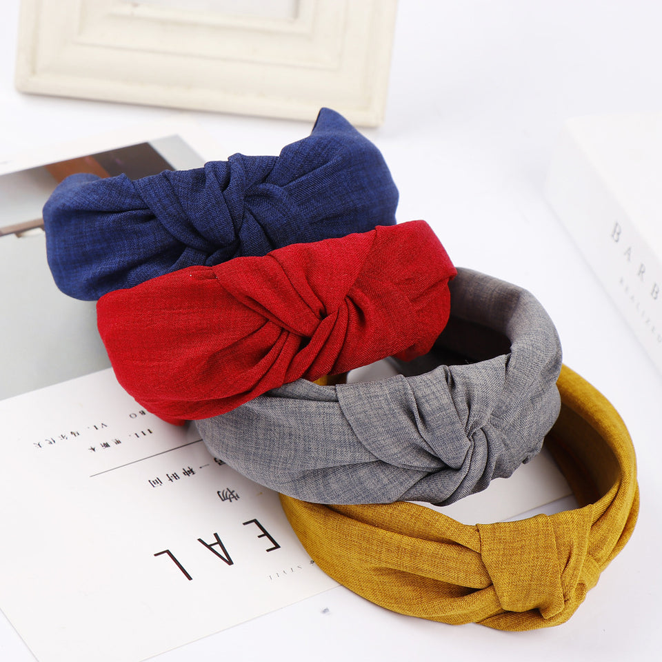 Trendy Knot Single Color Hairband
