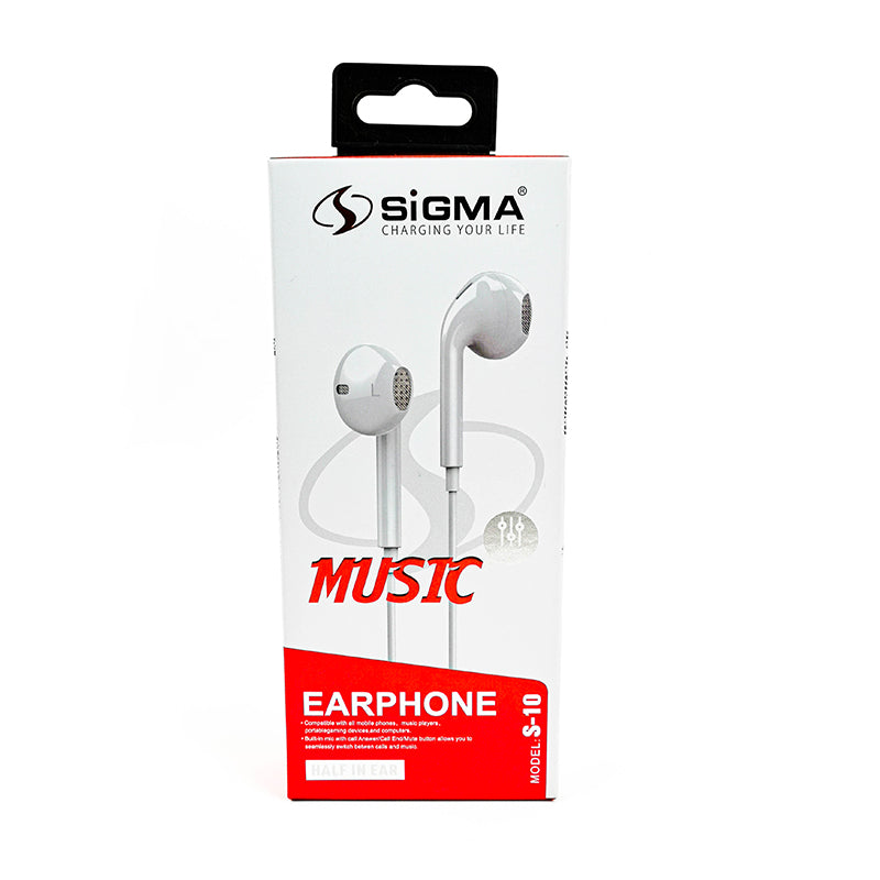 Muzic On Hay Half-In Ear Earphone