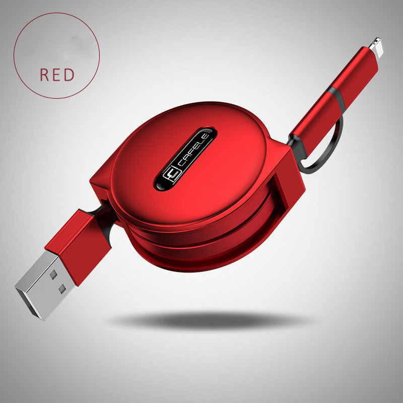Stylish Cafele 2 in 1 Retractable USB Cable