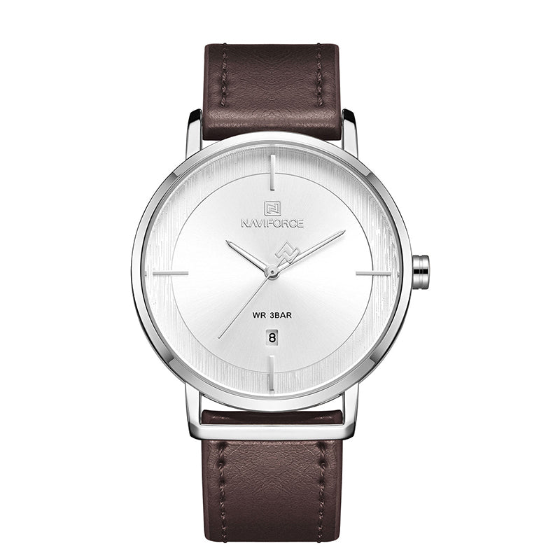 Naviforce NF3009 Leather Analog Wrist Watch for Women