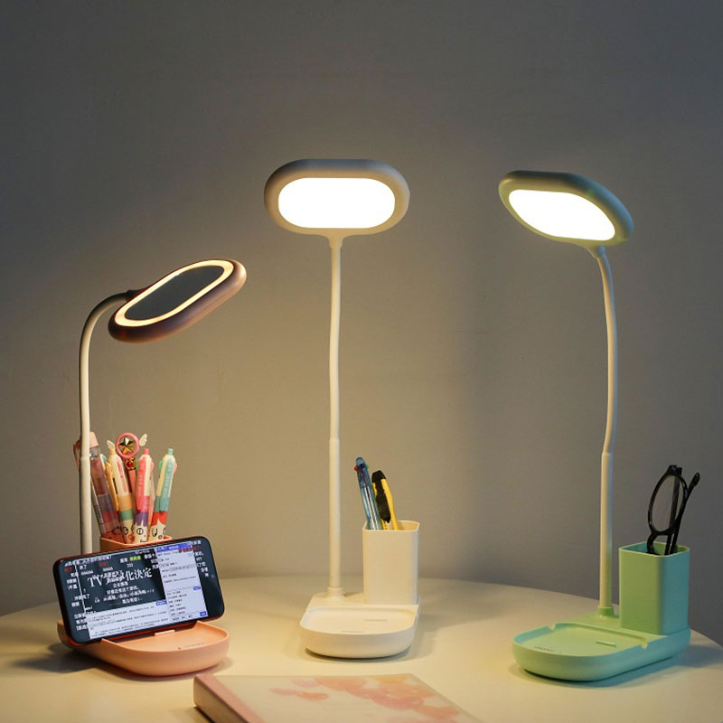 USB Rechargeable LED Desk Lamp with Mobile and Pen Holder