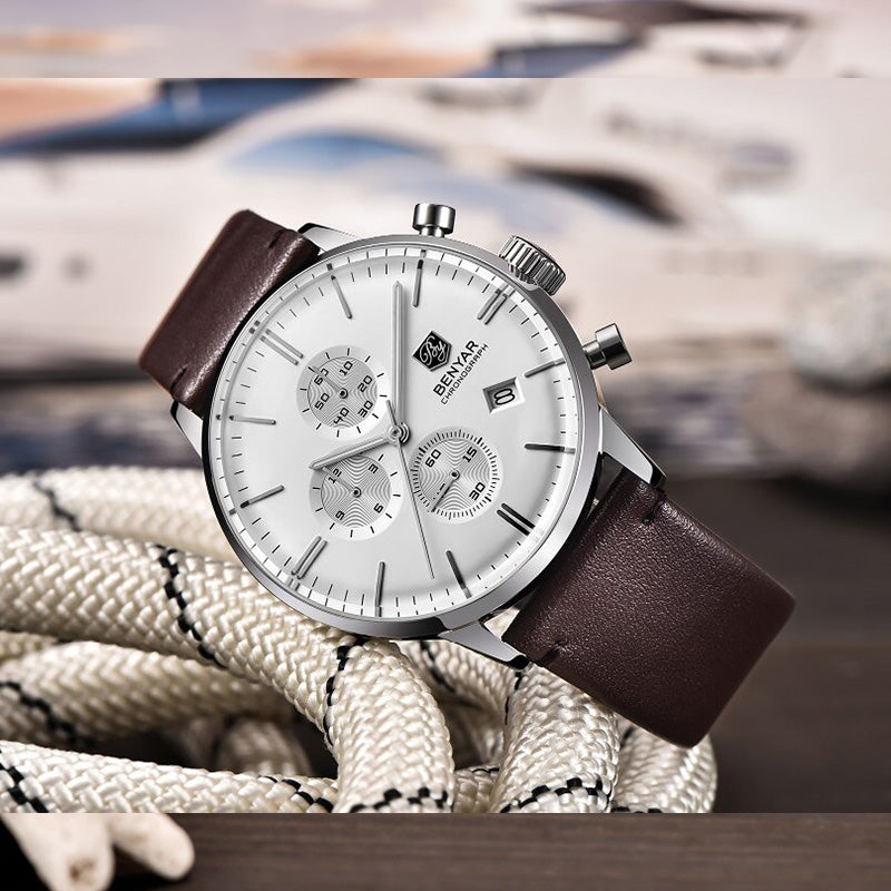 Benyar Luxury Casual Chronograph  Wrist Watch BY-2720
