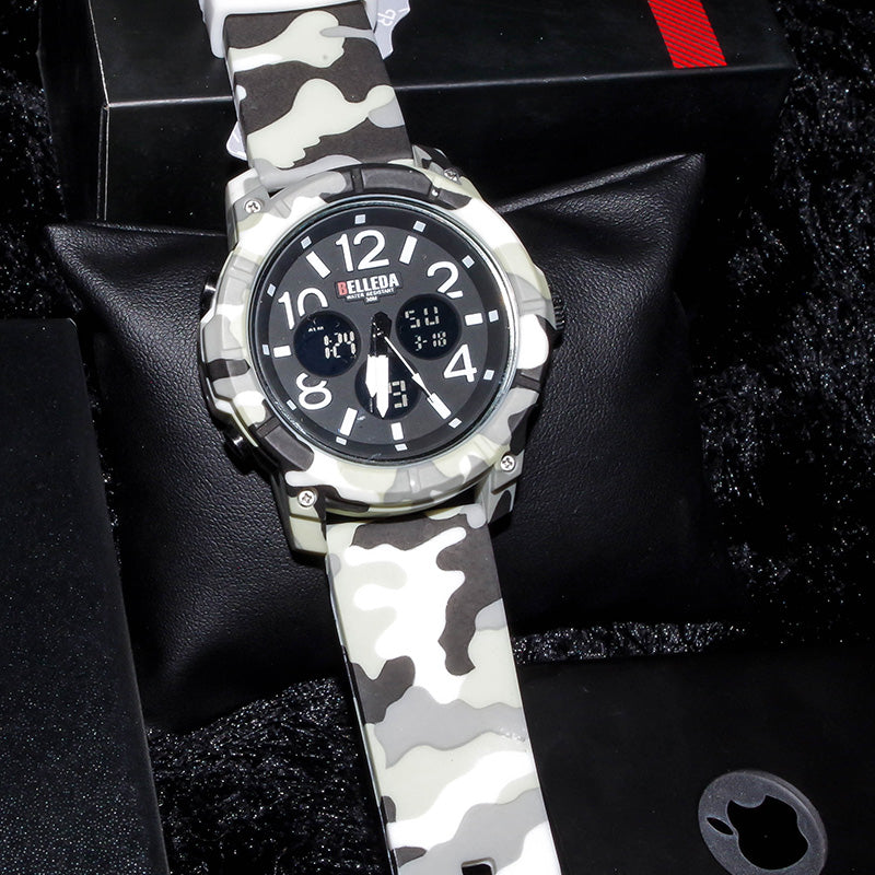 Stylish Camouflage Dual Time Watches