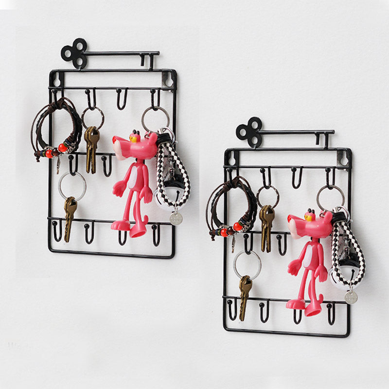 Innovative 11 U-Hooks Lanyard Key  Holder Wall Mounted Organizer