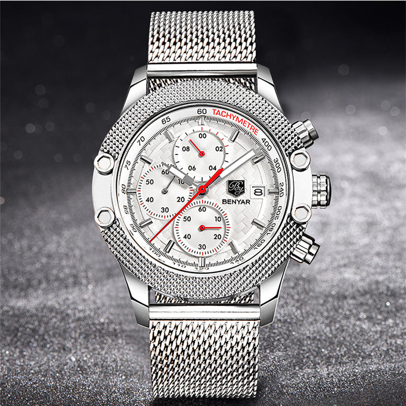 Benyar 5109 Sport Chronograph Wrist Watch for Men