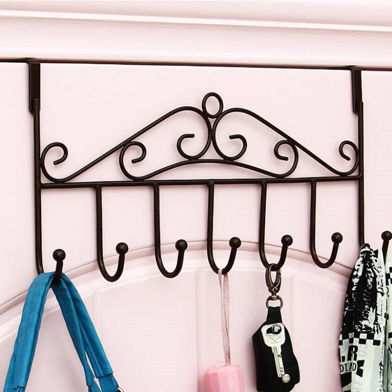 Nail-Free Vintage Over The Door Hook Rack Hanger