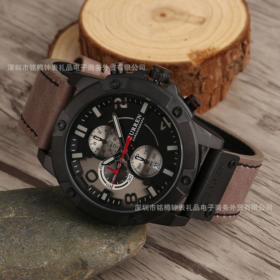 CURREN 8285 Leather Business Watch