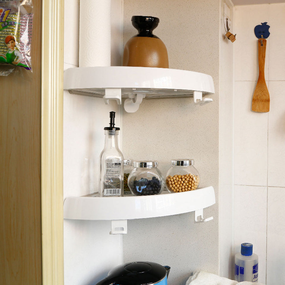 Set of 2 Corner Style Shelf